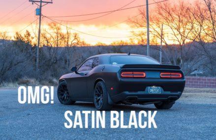 MY HELLCAT IS WRAPPED…….AGAIN! New Satin Black Dodge Challenger Hellcat Wrap at 12214 Albany NY