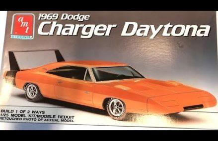 1969 Dodge Charger Daytona 1:25 Scale AMT #6278  Model Kit Review Within Zip 68303 Alexandria NE