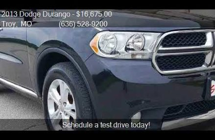 2013 Dodge Durango Crew AWD 4dr SUV for sale in Troy, MO 633 Orlando Florida 2018