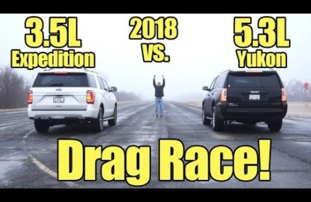 2018 Ford Expedition vs GMC Yukon Drag Race!  Compare these SUV's with a Kunes Country Prize Fight! Cary town North Carolina 2018