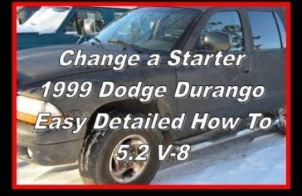 How to change a starter  –  Dodge Durango – 1999 – 5.2 V-8 in Lyndon 61261 IL