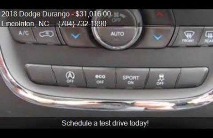 2018 Dodge Durango SXT 4dr SUV for sale in Lincolnton, NC 28 Akron Ohio 2018
