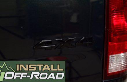 Dodge Ram Install: Mopar Black 4×4 Emblem for 2013-2018 RAMs From 70789 Wilson LA