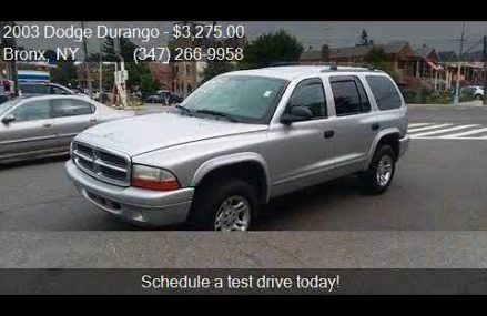 2003 Dodge Durango SLT 4WD 4dr SUV for sale in Bronx, NY 104 Clarksville Tennessee 2018