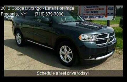 2013 Dodge Durango SXT AWD 4dr SUV for sale in Fredonia, NY Savannah Georgia 2018