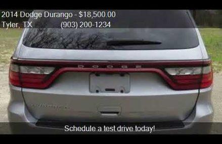 2014 Dodge Durango SXT 4dr SUV for sale in Tyler, TX 75701 a McKinney Texas 2018