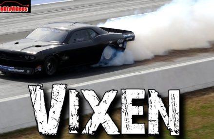 """Vixen: 4,500hp Twin Turbo """"Hemi"""" Dodge Challenger big tire car Drag Racing Within Zip 24917 Auto WV"""