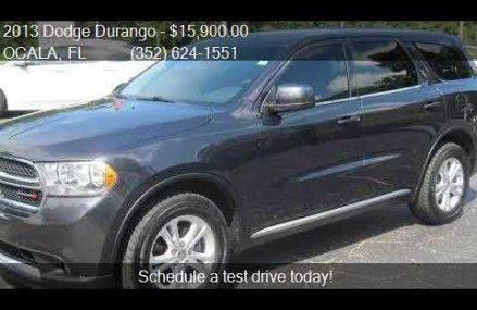 2013 Dodge Durango SXT 4dr SUV for sale in OCALA, FL 34480 a Fremont California 2018