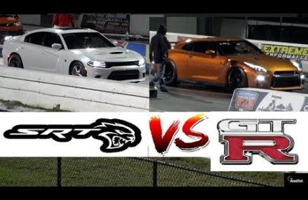 GT-R Newbie vs 900 HP HELLCAT Charger – 1/4 Mile Drag Race – Road Test® From 21201 Baltimore MD