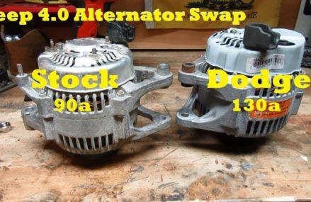 $35 Jeep 4.0 Alternator Upgrade – Stock 90 amp to Dodge 130 amp North Las Vegas Nevada 2018