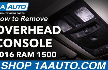 How to Remove Reinstall Overhead Console 2016 Ram 1500 Local 22578 White Stone VA