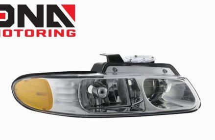 96-99 Dodge Caravan / Voyager Chrome / Amber Headlights at Miami 87729 NM