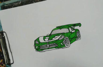 Dodge Viper Drawing Near New Paris Speedway, New Paris, Indiana 2018