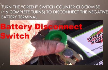 Battery disconnect switch installation on a 12V car battery Near New Springfield 44443 OH