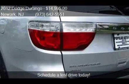 2012 Dodge Durango SXT AWD 4dr SUV for sale in Newark, NJ 07 Atlanta Georgia 2018