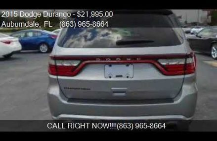 2015 Dodge Durango SXT 4dr SUV for sale in Auburndale, FL 33 St. Louis Missouri 2018