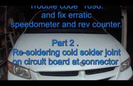 2000 DODGE CARAVAN repair. PART2. Error code P1698 .Re-solder connector. Local New Bedford 2745 MA