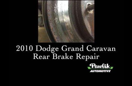 2010 Dodge Grand Caravan, Rear Brakes at Naperville 60540 IL