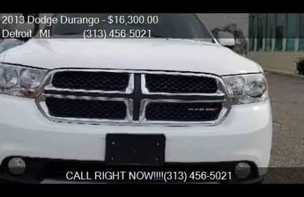 2013 Dodge Durango SXT AWD 4dr SUV for sale in Detroit, MI 4 Rochester New York 2018