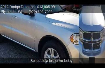 2012 Dodge Durango SXT AWD 4dr SUV for sale in Plymouth, WI Los Angeles California 2018