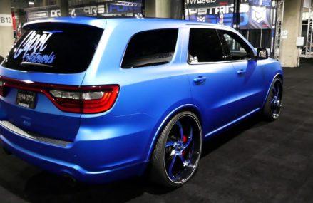 Custom Blue Dodge Durango SUV – Exterior Tour – 2018 LA Auto Show Los Angeles California 2018