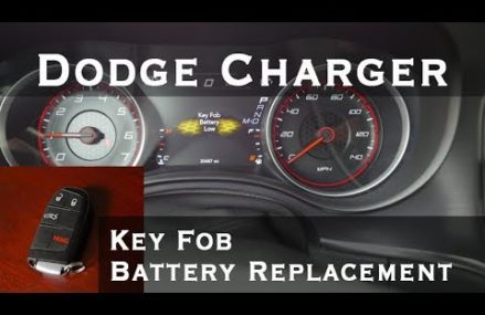 How To change battery Dodge Charger Key Fob DIY disassembly reassembly battery replacement in 49611 Alba MI