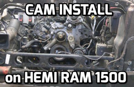 HEMI RAM 1500 CAM INSTALL and START UP!!! Detroit Michigan 2018