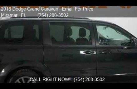 2016 Dodge Grand Caravan SXT 4dr Mini Van for sale in Mirama From Loughman 33858 FL