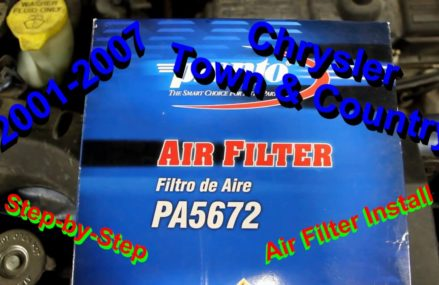 2001-2007 Chrysler Town & Country Air filter step by step install in Millstone 41838 KY