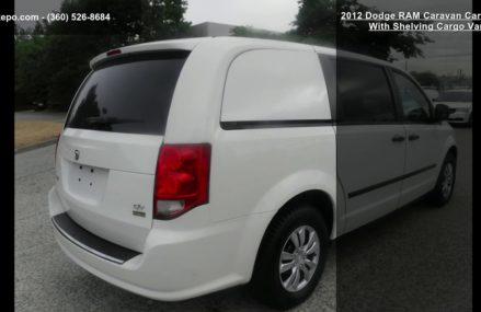 2012 Dodge RAM Caravan Cargo Van With Shelving Cargo Van From New Athens 62264 IL