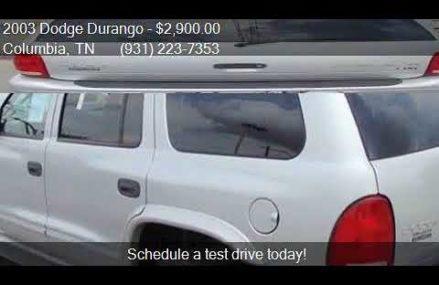 2003 Dodge Durango SLT 4WD 4dr SUV for sale in Columbia, TN Colorado Springs Colorado 2018
