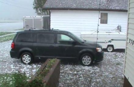 HAIL STORM DUMPS MASSIVE ICE BALLS! For Maxwell 46154 IN