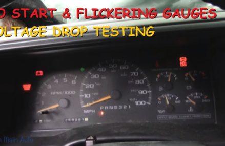 Chevy Truck – No Start, Flickering Lights & Gauges – Voltage Drop Testing Near Mine Run 22568 VA