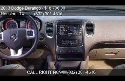2013 Dodge Durango Crew 4dr SUV for sale in Houston, TX 7705 Worcester Massachusetts 2018