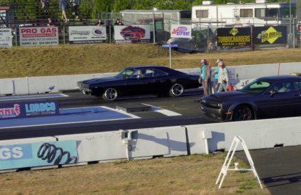 Dodge Demon vs old school Charger 10.02 @ 134.73 Local Area 50029 Bayard IA