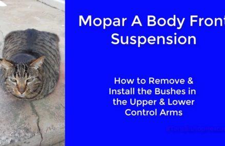 Mopar A Body Lower and Upper Control Arm Bushing Near 76000 Arlington TX