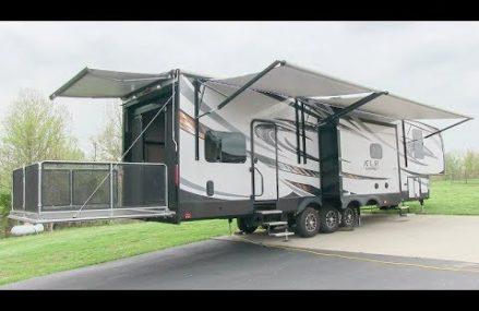 2016 Forest River Thunderbolt XLR 415AMP Toy Hauler 5th Wheel walk-around tutorial video Local Nashville 37212 TN