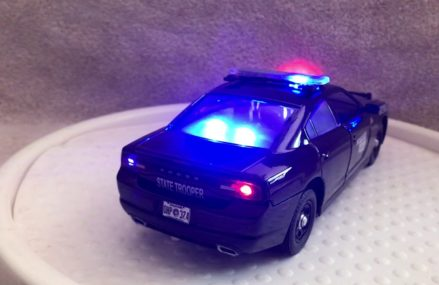 1/24 scale Oklahoma State Trooper Dodge Charger Diecast model Car with working lights and siren at 18401 Aldenville PA