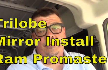 Trilobe Mirror Install  on my Ram Promaster Now at 78718 Austin TX