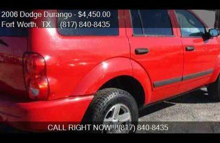 2006 Dodge Durango SLT 4dr SUV for sale in Fort Worth, TX 76 Des Moines Iowa 2018