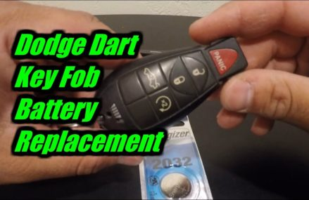 2013 Dodge Dart Key Fob Battery Replacement in Morristown 7963 NJ