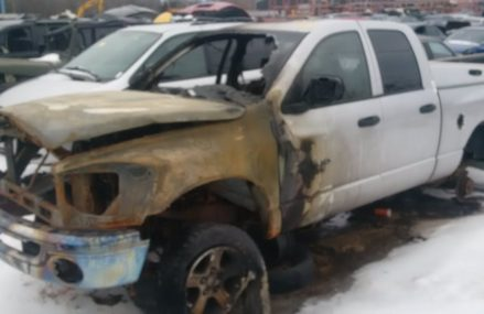 2007 DODGE RAM ENGINE FIRE From 3896 Wolfeboro Falls NH