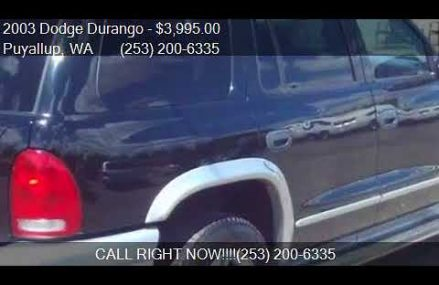 2003 Dodge Durango SLT Plus 4WD 4dr SUV for sale in Puyallup Tulsa Oklahoma 2018