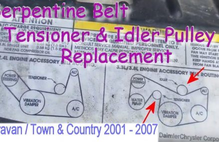 Caravan or Town & Country 3.8L Serpentine Belt Tensioner & Idler Pulley Replacement Near Modena 19358 PA