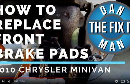 REPLACING FRONT BRAKE PADS  – 2010 Chrysler Town & Country – DIY at Mc Gee 63763 MO