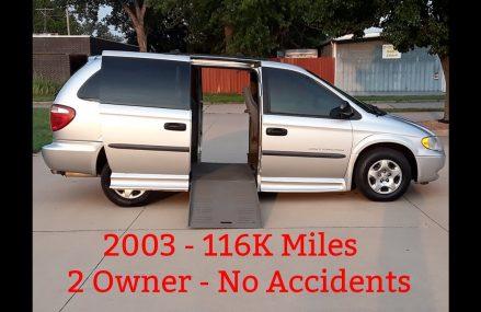 Mobility/Wheelchair 2003 Dodge Caravan,  114k, $9,950 at Monticello 87939 NM