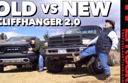 Old vs New: 2019 Ram Rebel vs 1994 Dodgezilla vs a Snowy Cliffhanger 2.0 Found at 4062 Windham ME