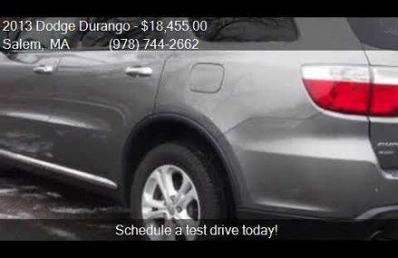 2013 Dodge Durango Crew AWD 4dr SUV for sale in Salem, MA 01 Modesto California 2018