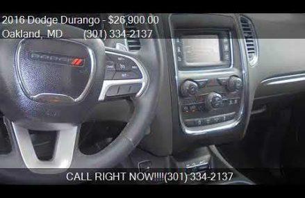 2016 Dodge Durango SXT AWD 4dr SUV for sale in Oakland, MD 2 Detroit Michigan 2018