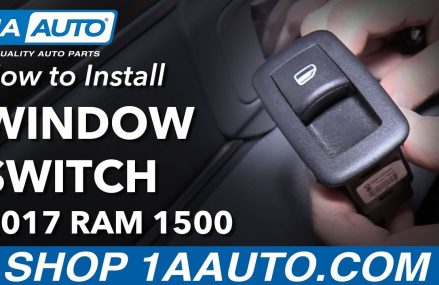How to Install Replace Rear Power Window Switch 2017 Ram 1500 in City 5361 Whitingham VT